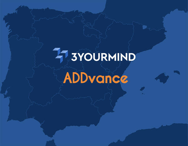 3YOURMIND and ADDvance 3D partner for distribution in Spain