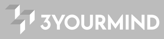3YOURMIND Full White Logo