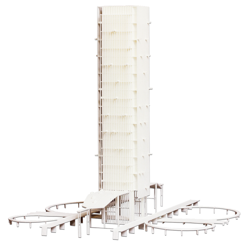 Architectural 3D Model of Skyscraper