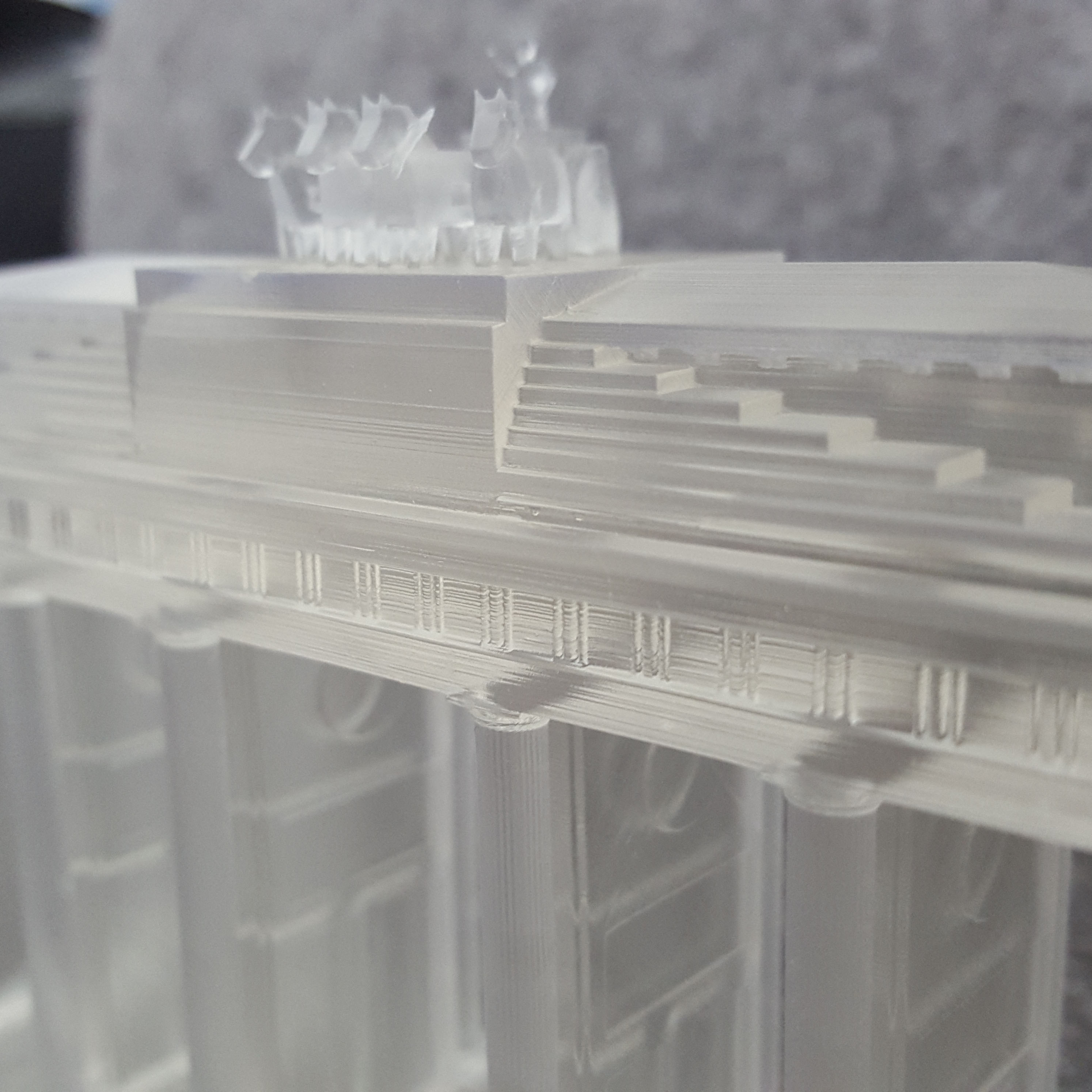 Brandenburg Gate 3D Printed in Resin