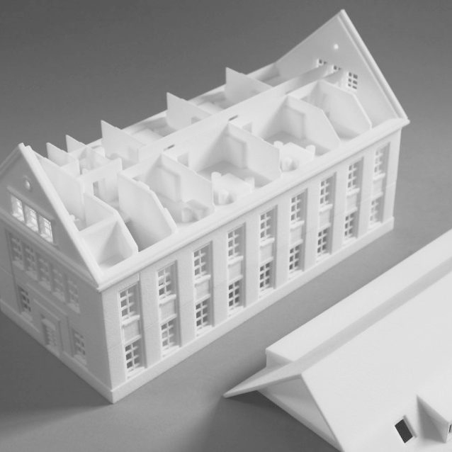 3D Printed Model of Grunderhaus, TU Berlin
