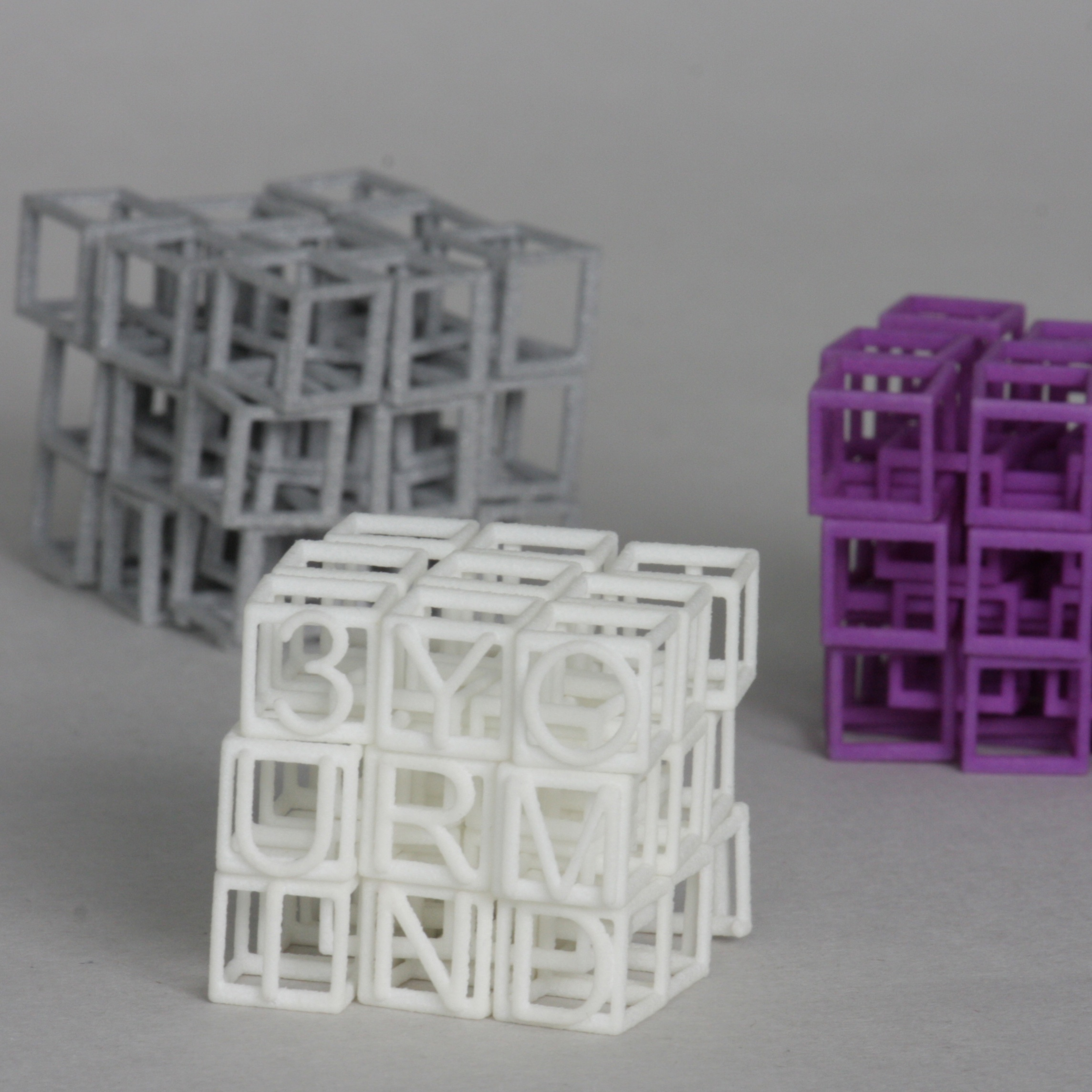 3YOURMIND 3D Printed in Interlocking Squares