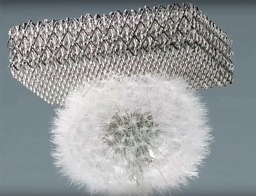 Aus leichtgewichtigem Material gedrucktes Mikrogitter, entwickelt für Boeing von HRL Laboratorien