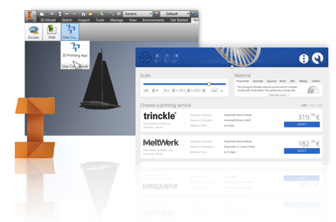 Inventor 3d printing app