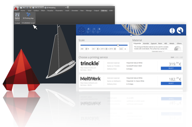3D Printing from AutoCAD with a Click | 3YOURMIND