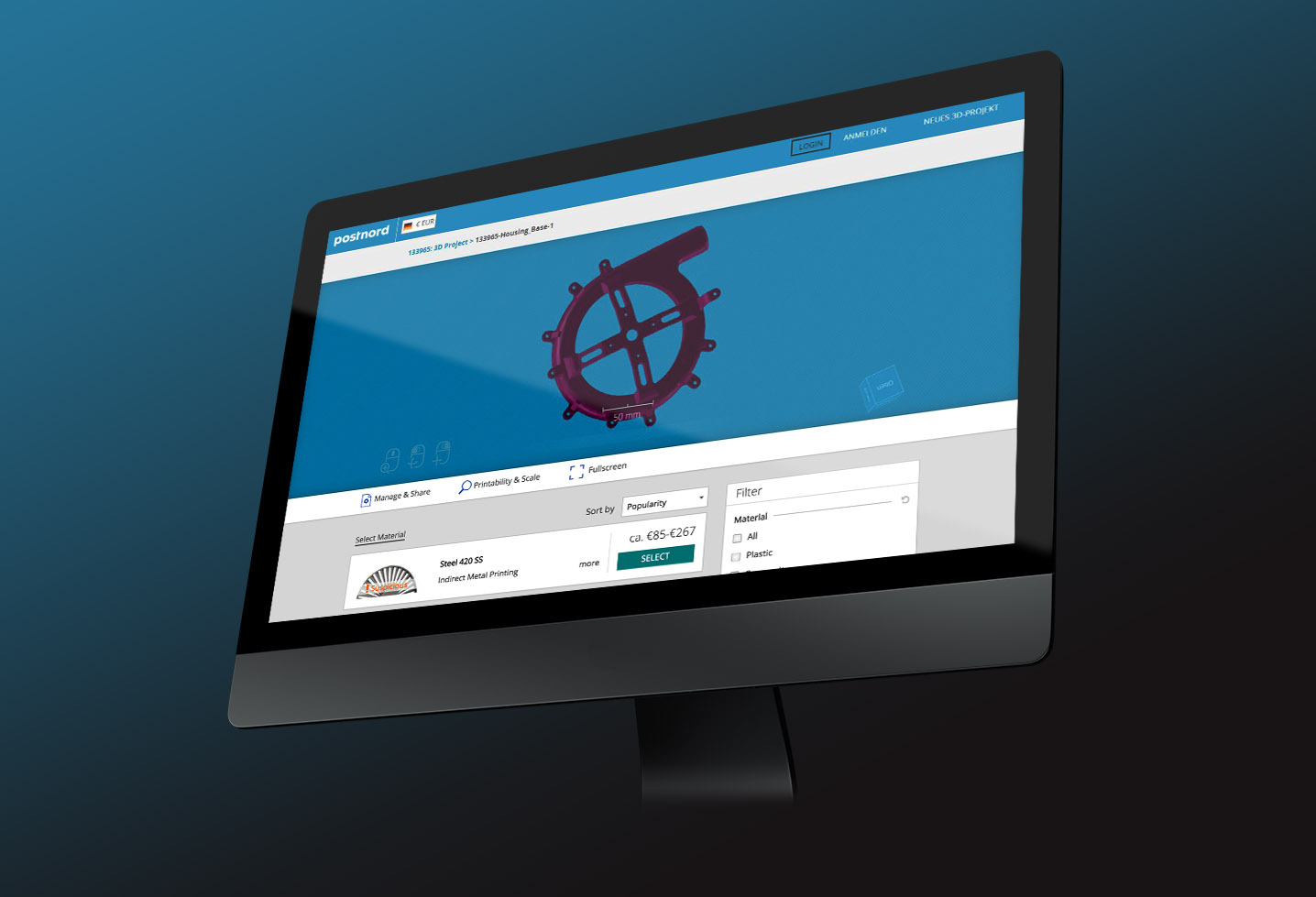Führendes Logistikunternehmen in Europa führt 3YOURMIND-Plattform für 3D-Druck ein